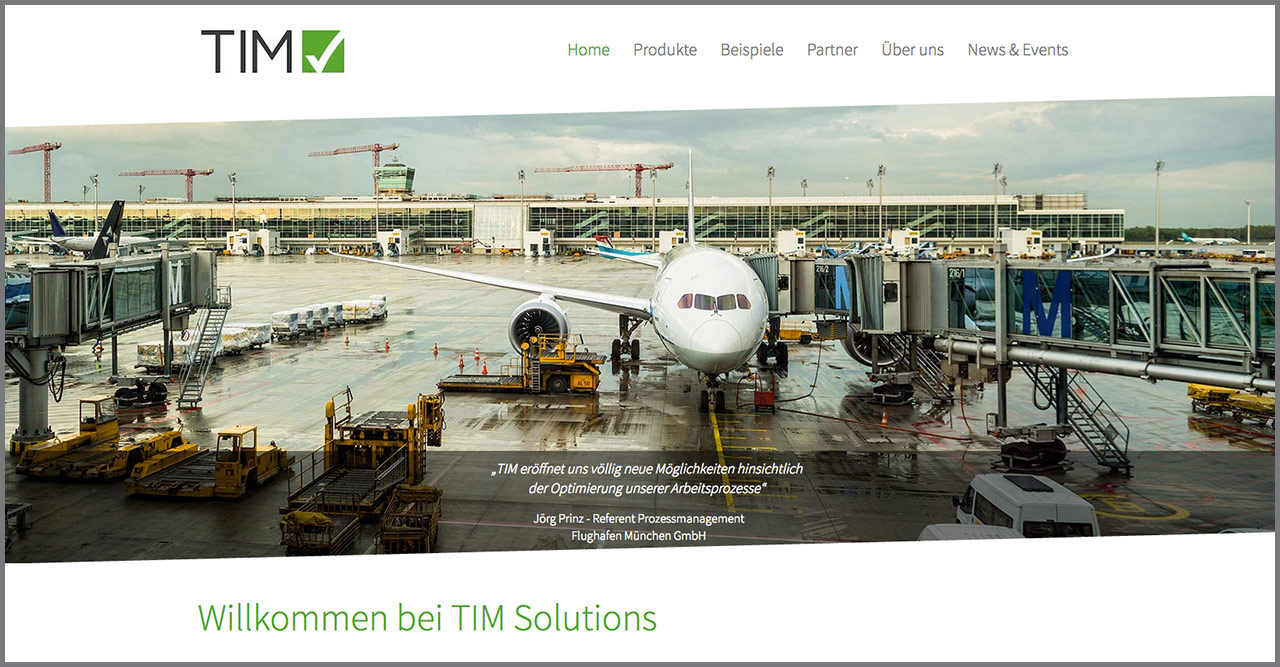 TIM Solutions Referenz 1